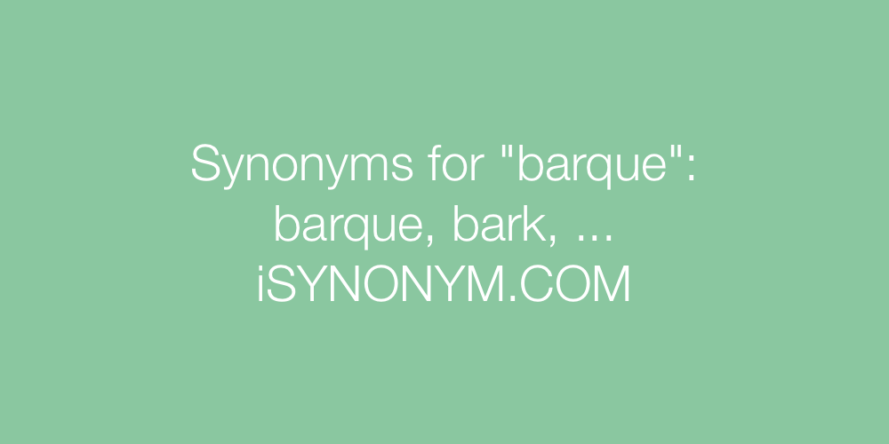 Synonyms barque