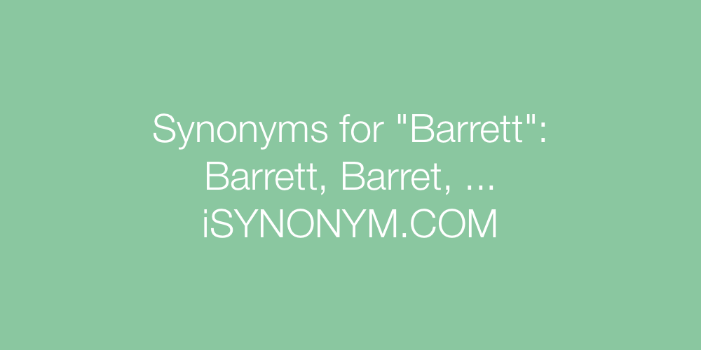 Synonyms Barrett