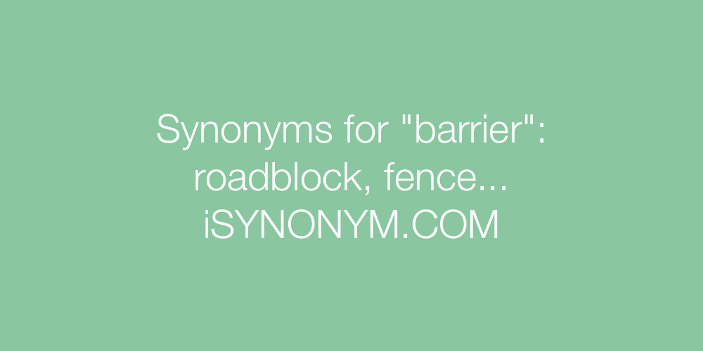 Synonyms barrier