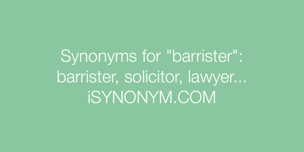 Synonyms barrister