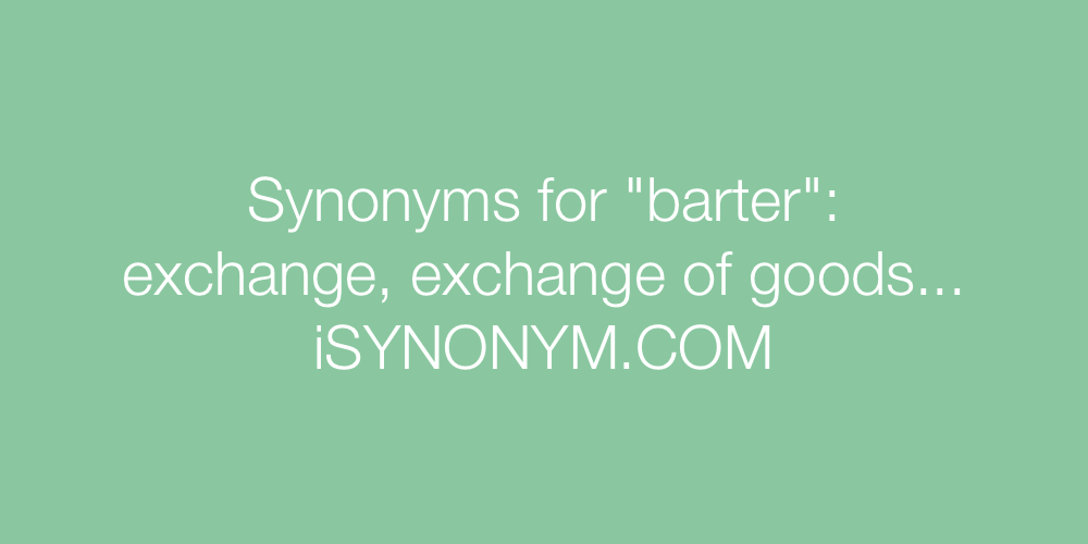 Synonyms barter