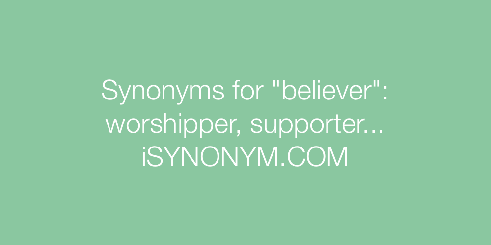 Synonyms believer