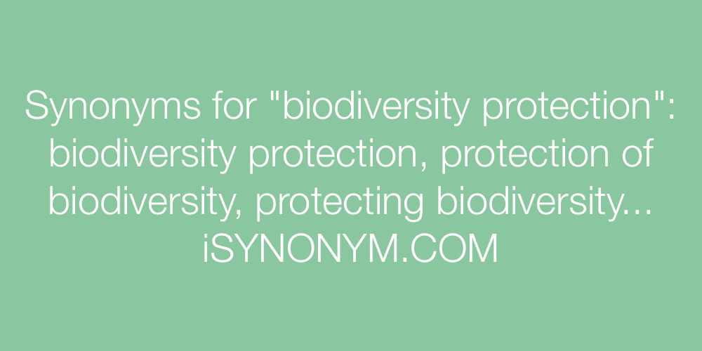 Synonyms biodiversity protection