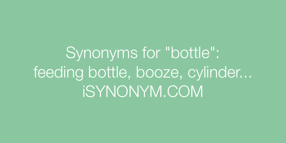 Synonyms bottle