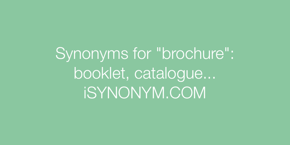 Synonyms brochure