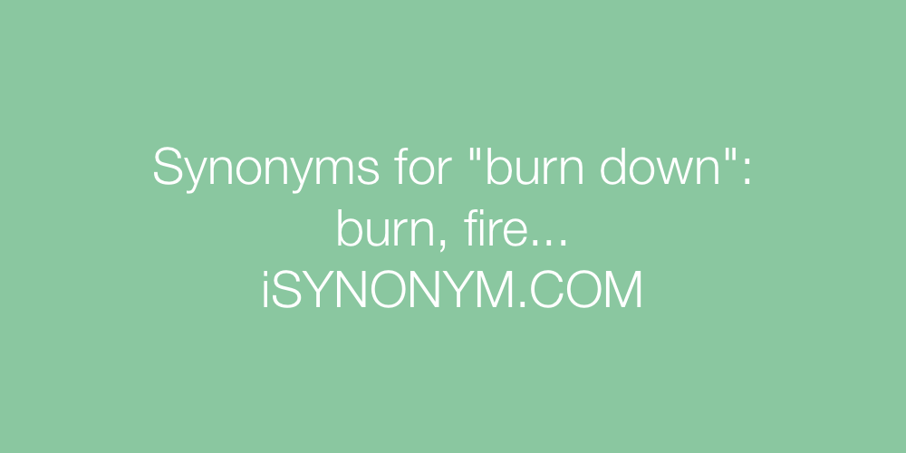 Synonyms burn down