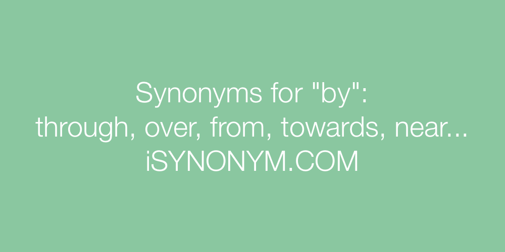 Synonyms by