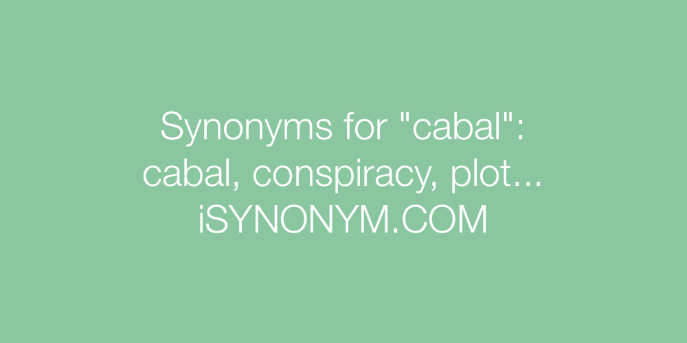 Synonyms cabal