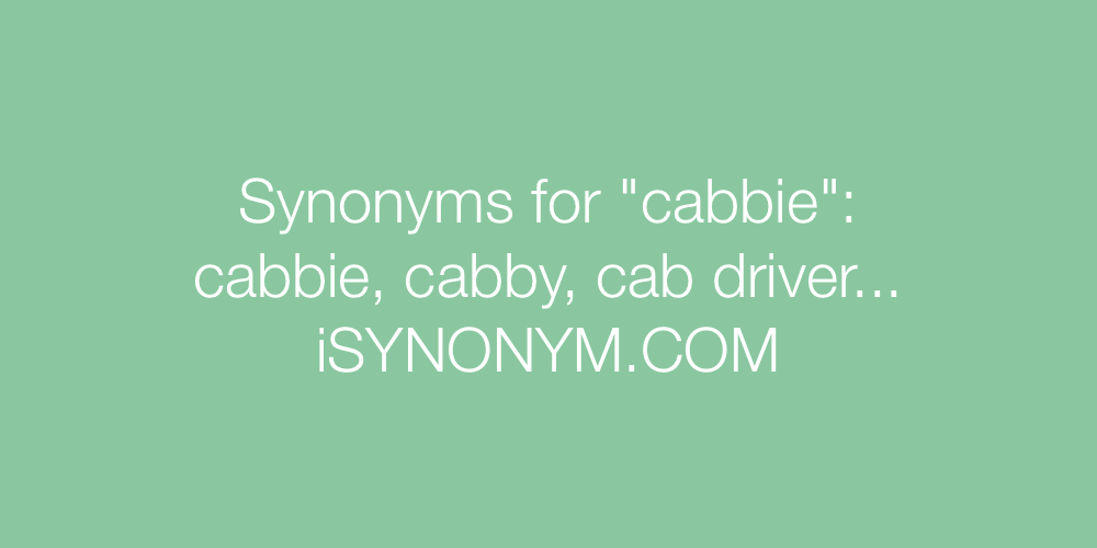 Synonyms cabbie