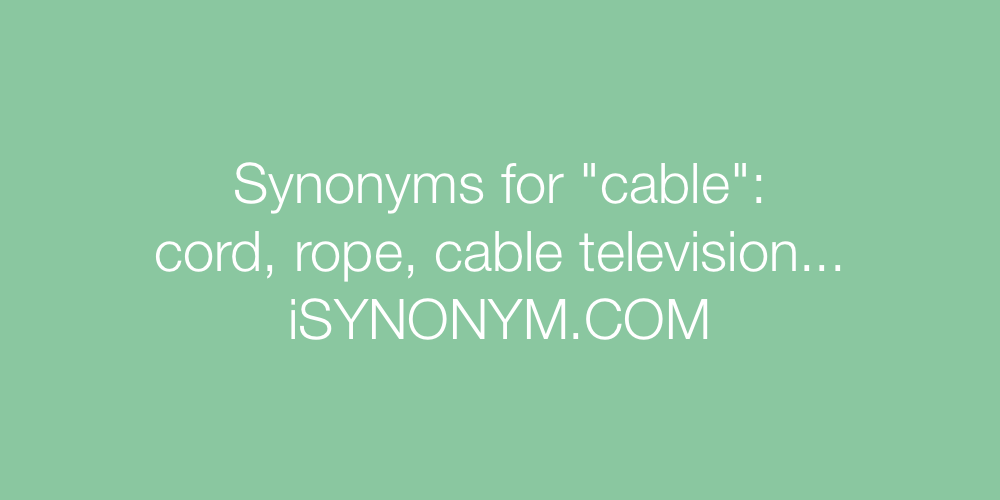 Synonyms cable