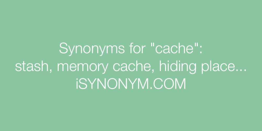 Synonyms cache