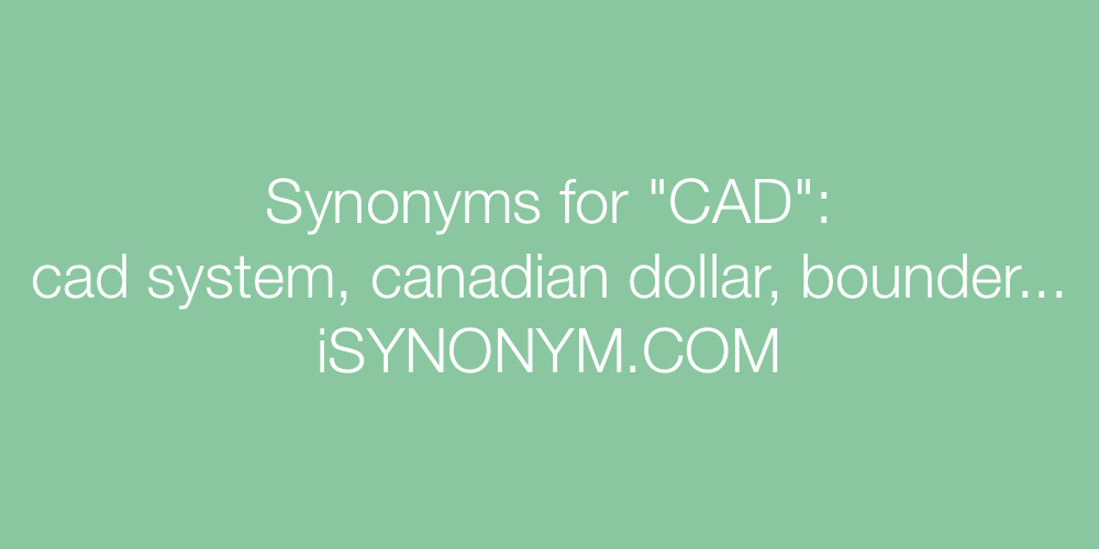 Synonyms CAD