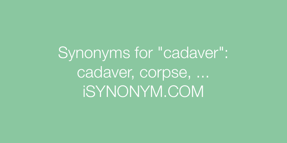 Synonyms cadaver