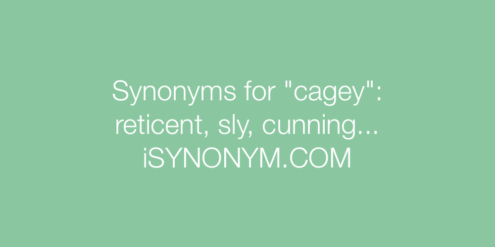 Synonyms cagey