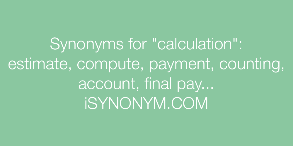 Synonyms calculation