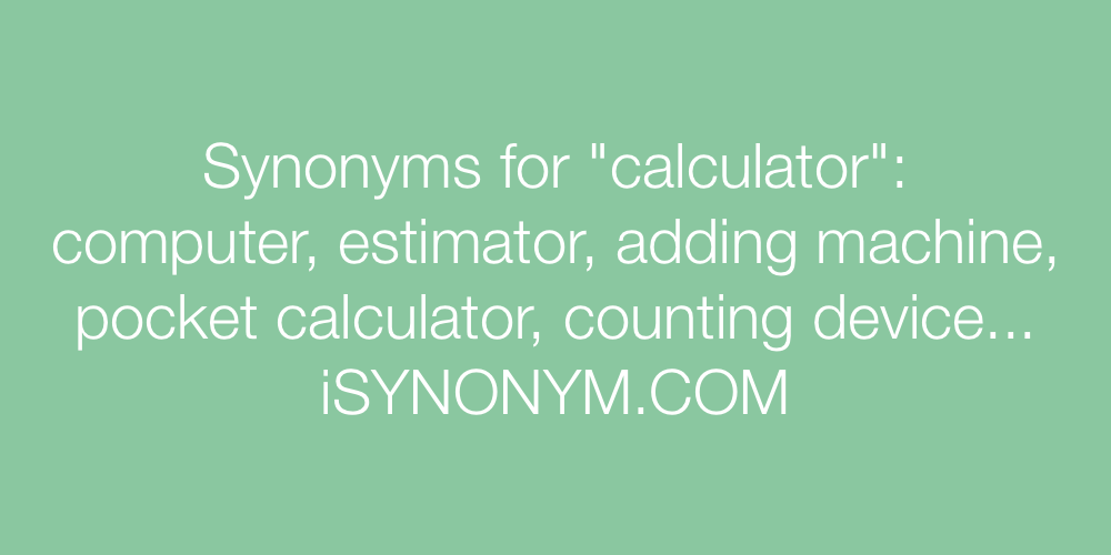 Synonyms calculator