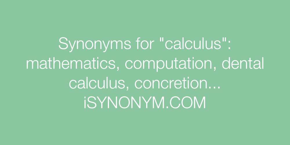 Synonyms calculus