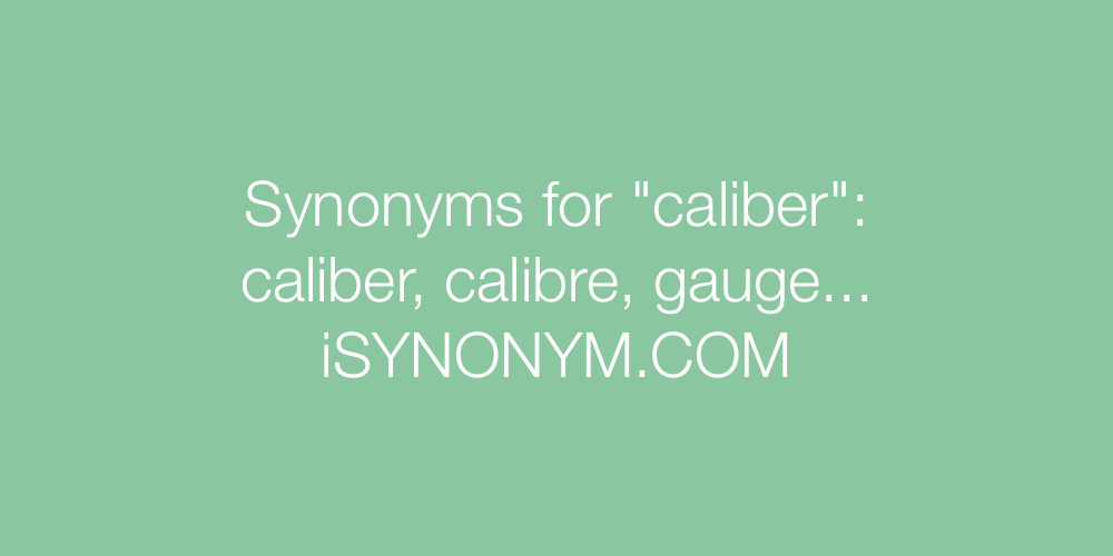 Synonyms caliber
