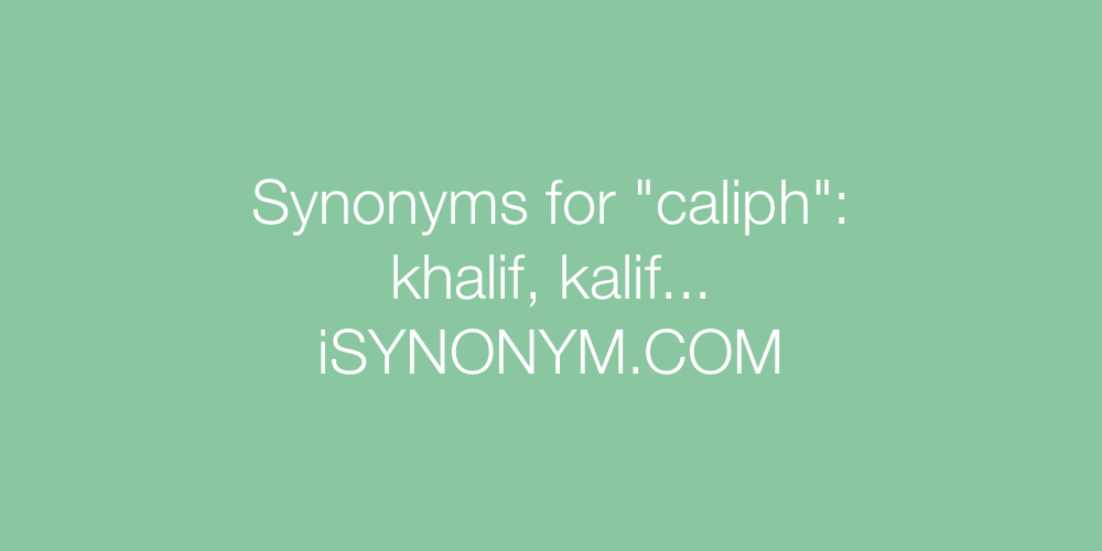 Synonyms caliph