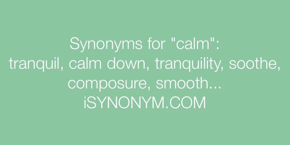 Synonyms calm