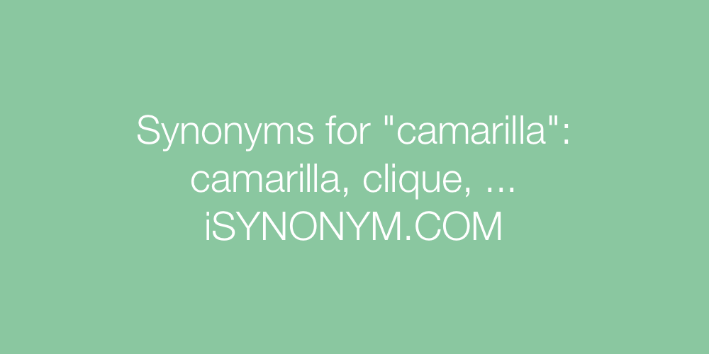 Synonyms camarilla