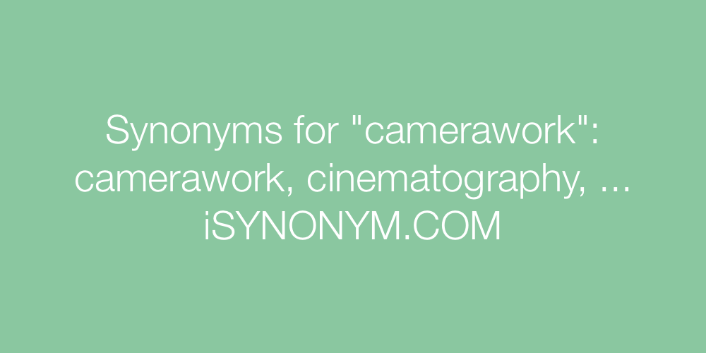 Synonyms camerawork