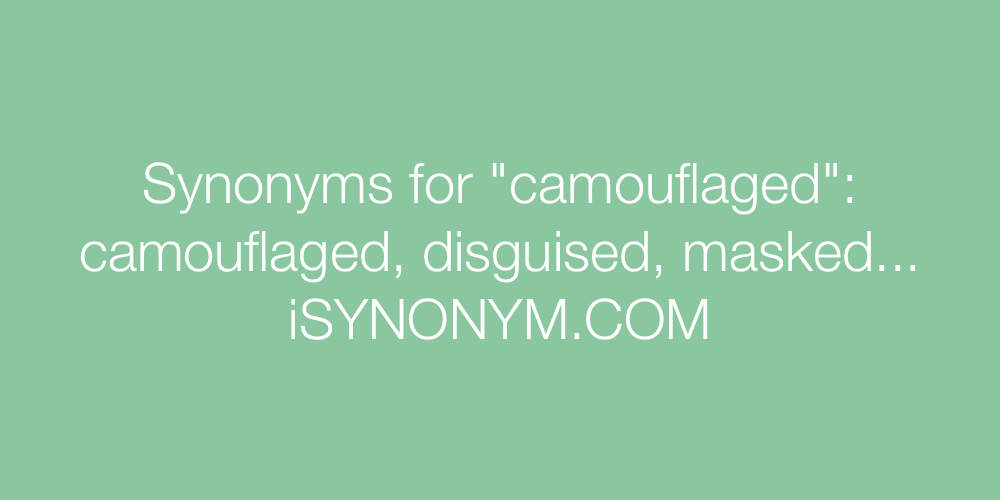 Synonyms camouflaged