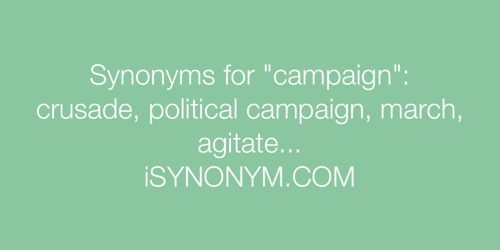 Synonyms campaign