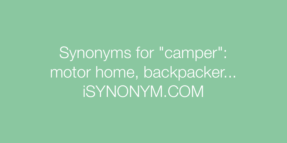 Synonyms camper