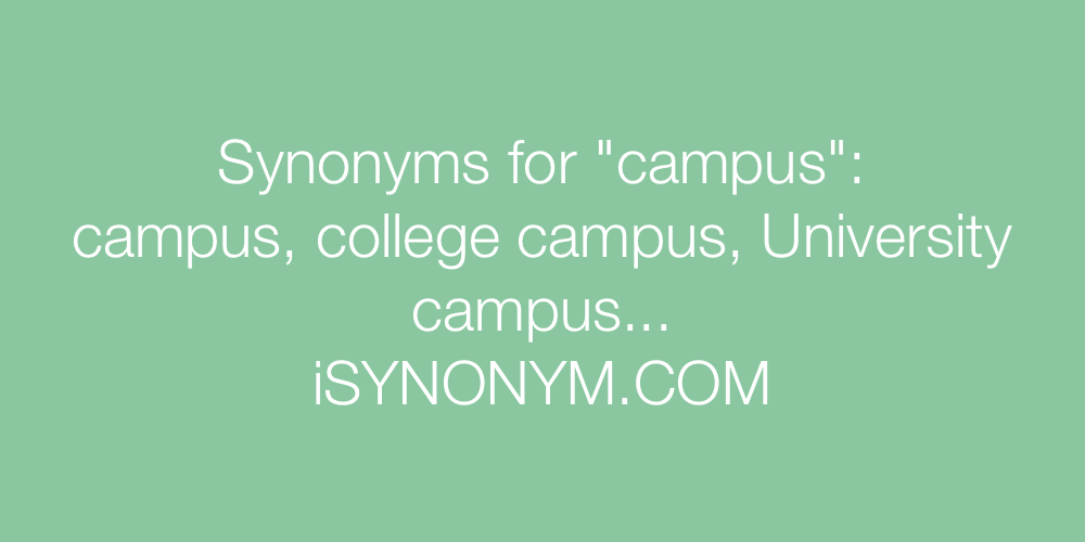 Synonyms campus