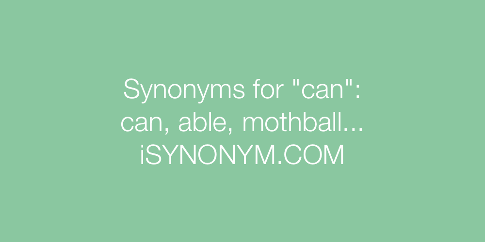 Synonyms can