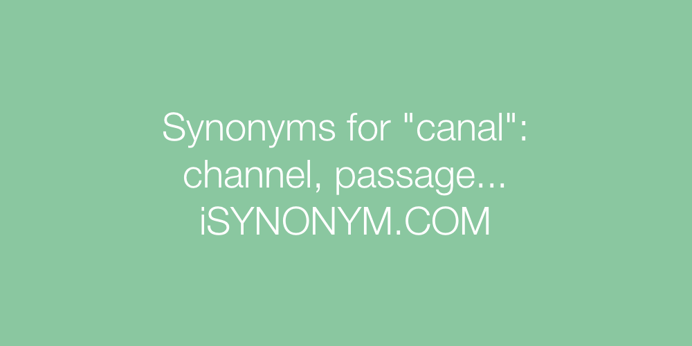 Synonyms canal
