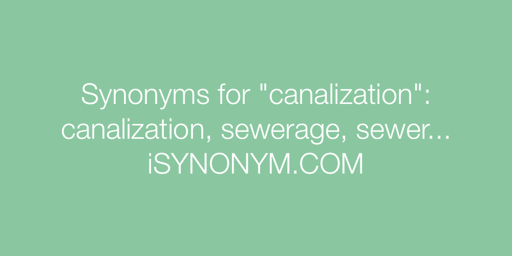 Synonyms canalization