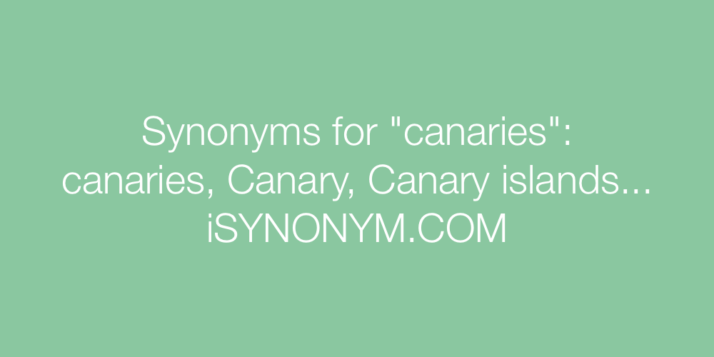 Synonyms canaries