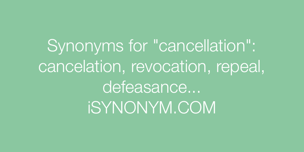 Synonyms cancellation