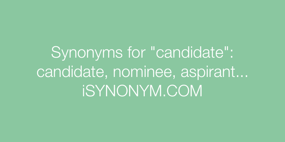 Synonyms candidate