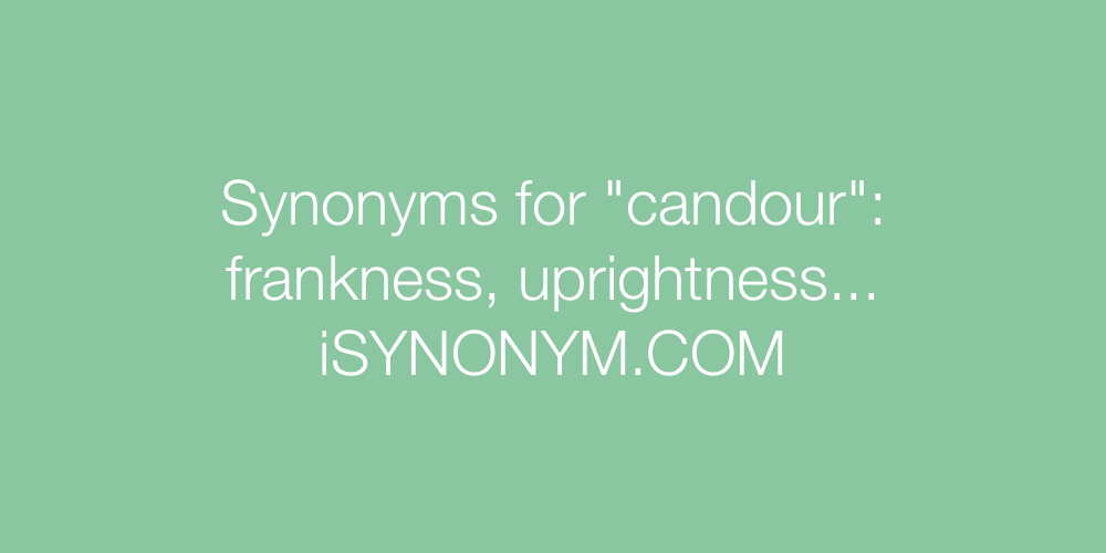 Synonyms candour