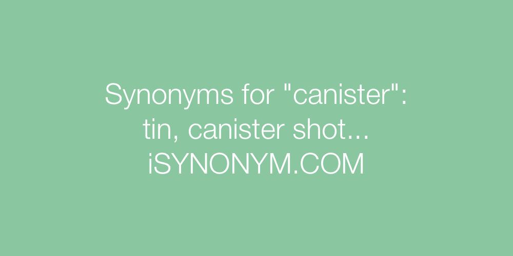 Synonyms canister