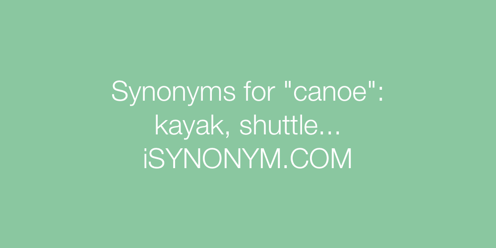 Synonyms canoe