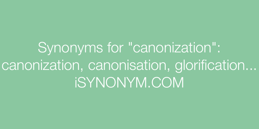 Synonyms canonization