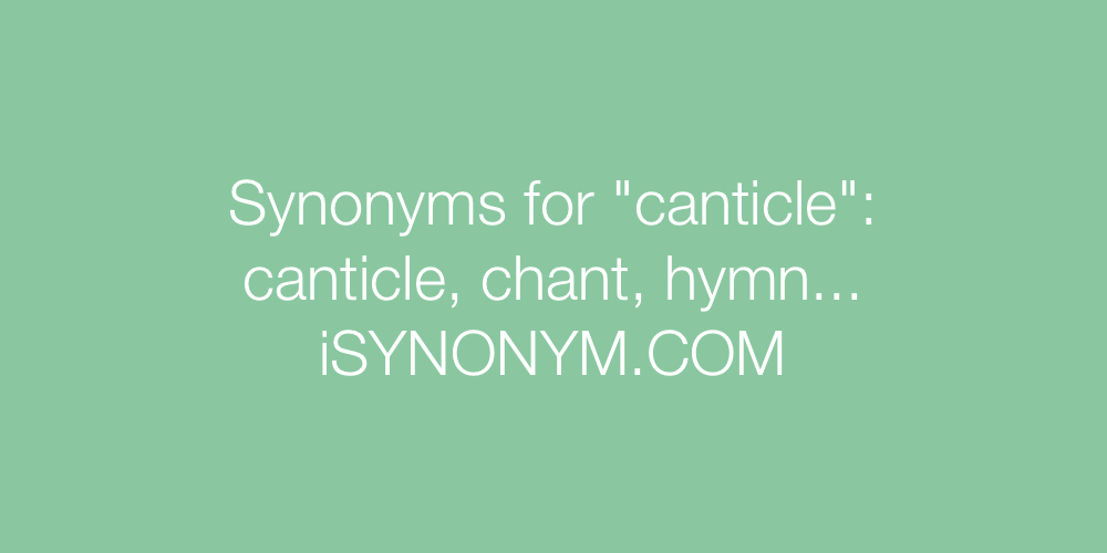 Synonyms canticle