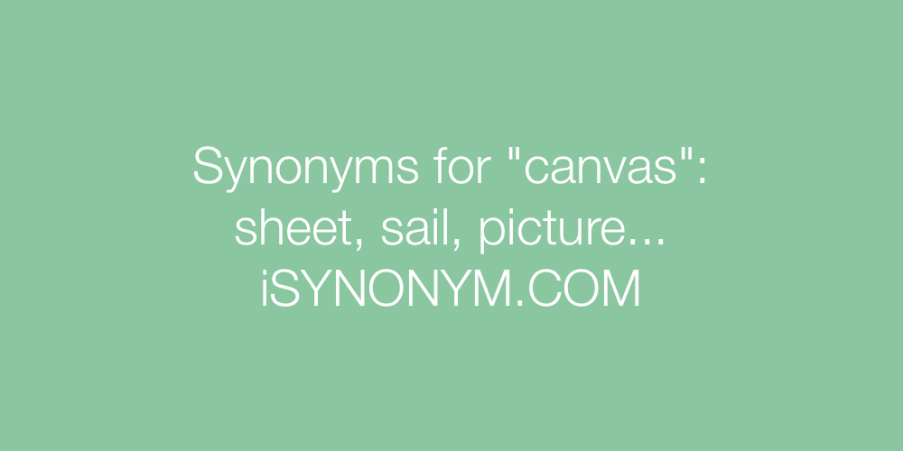 Synonyms canvas