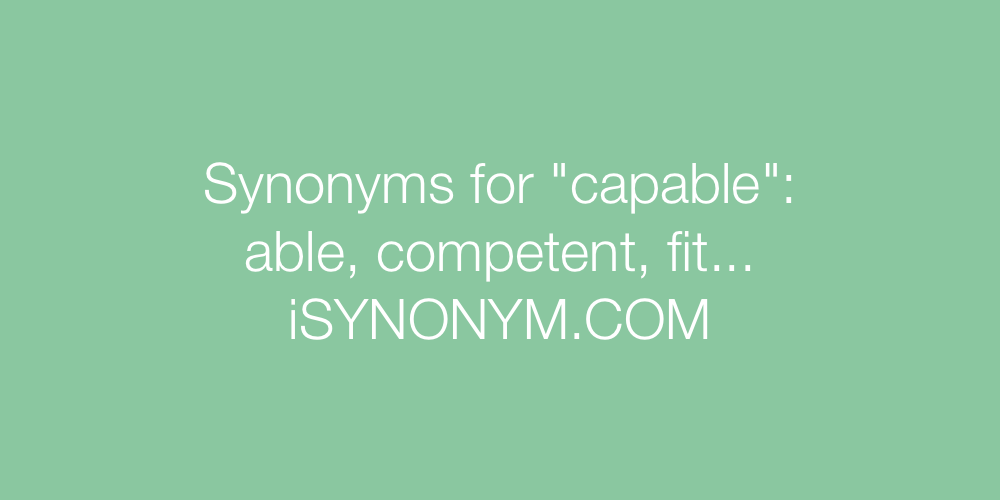 Synonyms capable