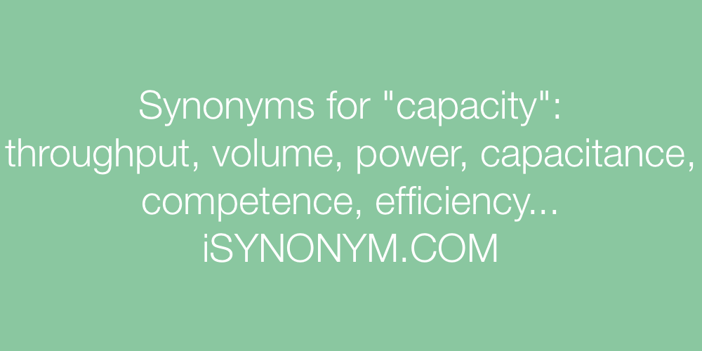 Synonyms capacity