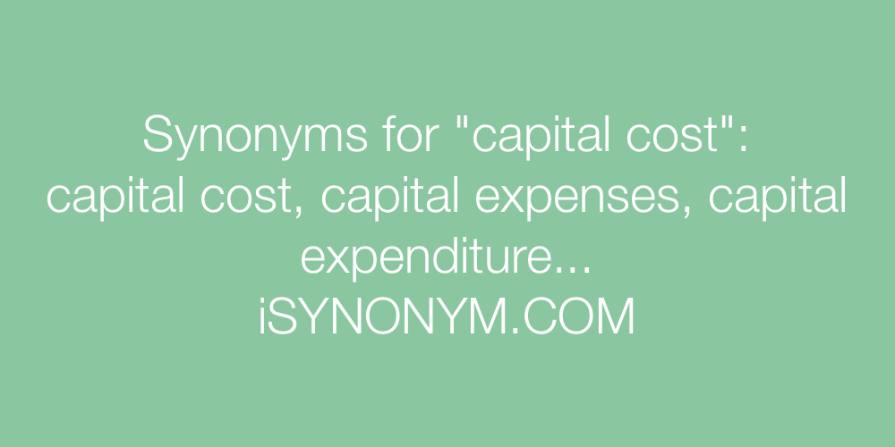 Synonyms capital cost