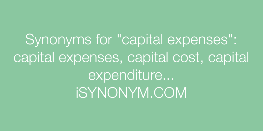 Synonyms capital expenses