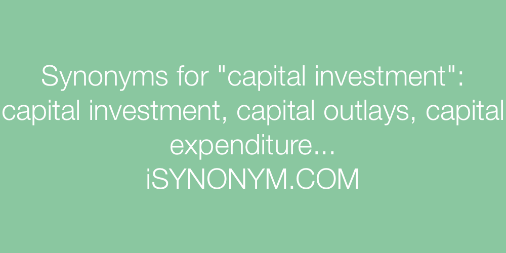 Synonyms capital investment