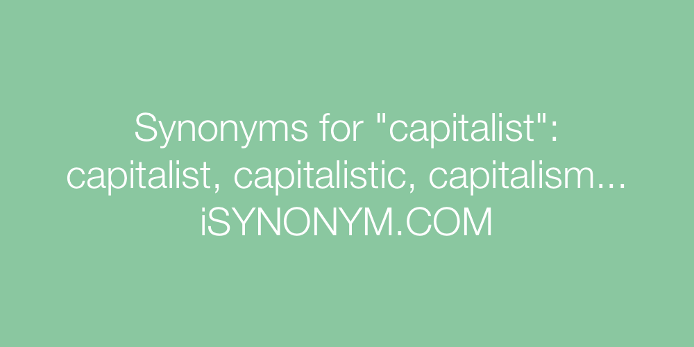 Synonyms capitalist