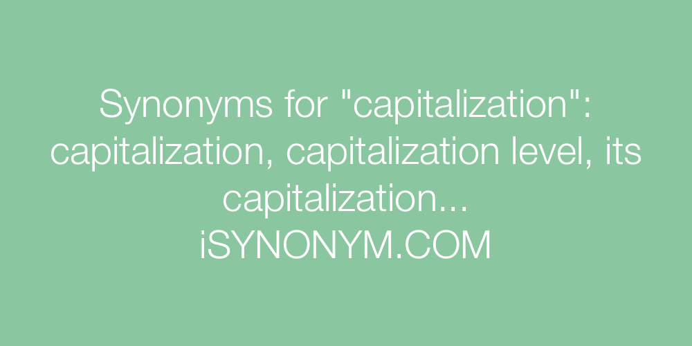 Synonyms capitalization