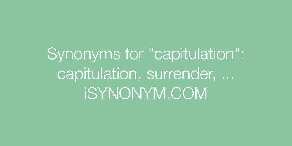 Synonyms capitulation